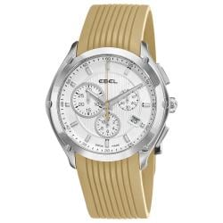 Ebel Men's 'Classic Sport' Sand Rubber Strap Chronograph Watch