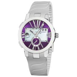 Ulysse Nardin Women's Dual Time Purple Diamond Dial Watch
