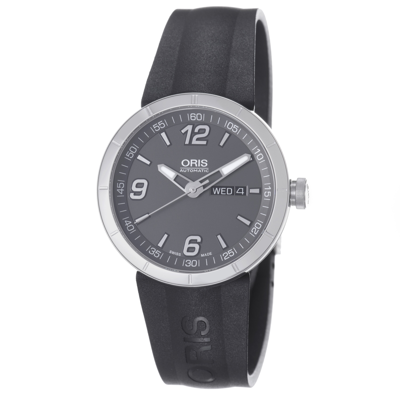 Oris Men's 'TT1' Grey Dial Black Rubber Strap Automatic Watch