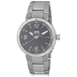 Oris Men's 'TT1' Grey Dial Stainless Steel Bracelet Automatic Watch