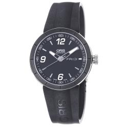 Oris Men's 'TT1' Black Dial Black Rubber Strap Automatic Watch