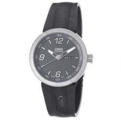 Oris Men&#39;s &#39;TT1&#39; Grey Dial Black Rubber Strap Automatic Watch