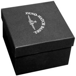 Zeno Men's 'Automatic' Silver Dial Black Strap Watch