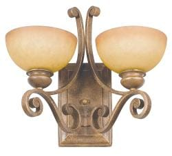 Two-Light Sienna Hi-Lite Wall Sconce Light