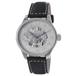 Zeno Men's 'Oversized' Ivory Skeleton Dial Automatic Watch