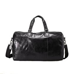 Fossil 'Transit' Black Leather Duffel Bag