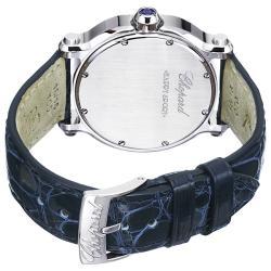 Chopard Women's 'Happy Sport Heart' Blue Leather Strap Watch