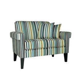 angelo:HOME Ennis Shoreline Aqua Blue 3-piece Sofa Collection