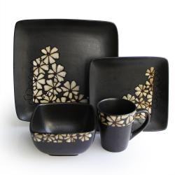 American Atelier Jasmine White 16-piece Dinnerware Set