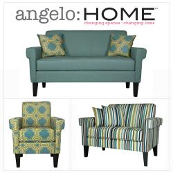 angelo:HOME Ennis Shoreline Aqua Blue 3 piece Sofa Collection