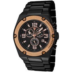 Swiss Legend Men's 'Throttle' Black Ion-Plated SS Chronograph Watch