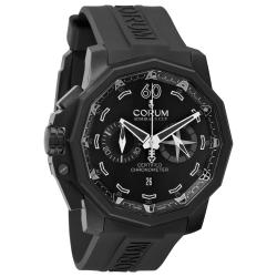 Corum Men's 'Admiral Cup' Black Chronograph Dial Automatic Watch