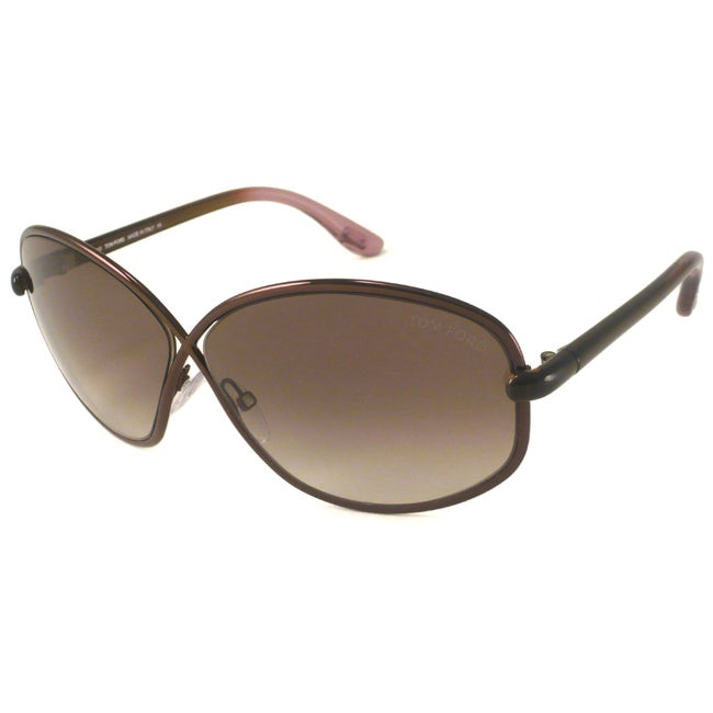Tom Ford TF0160 Brigitte Women's Rectangular Sunglasses