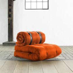 Fresh Futon 'Buckle Up' Orange Futon Chair