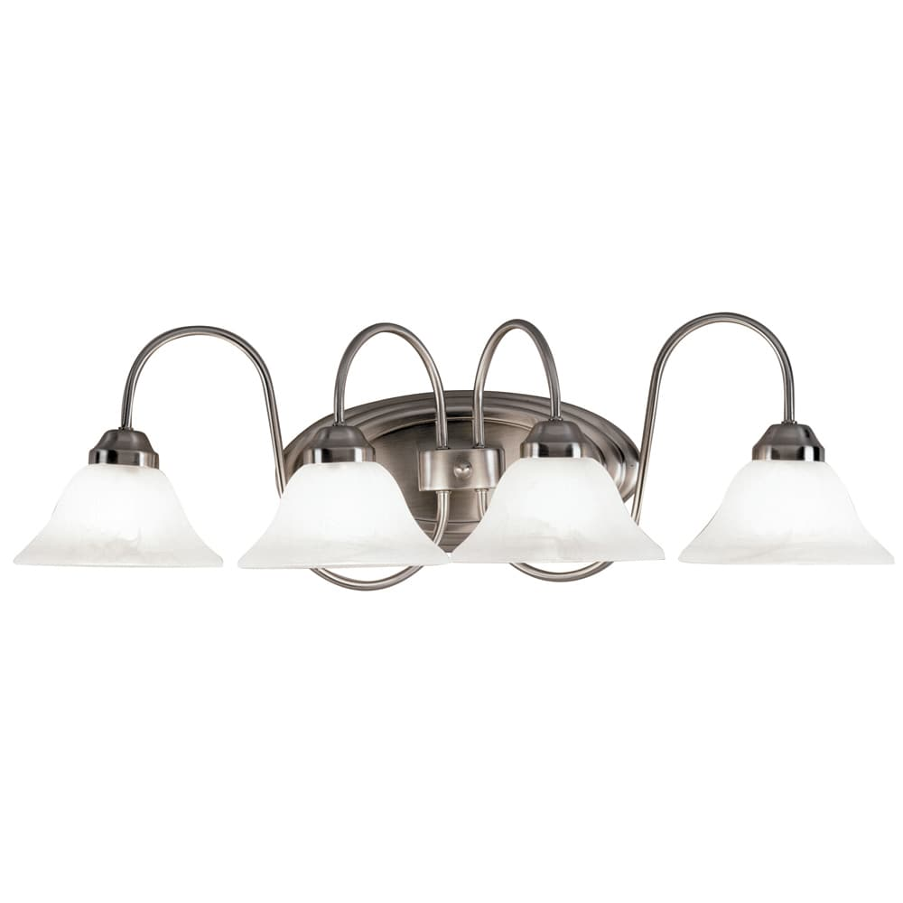 Aztec Lighting Transitional 4-light Brushed Nickel Wall Sconce