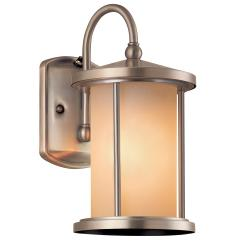 Aztec Lighting Contemporary 1-light Brushed Aluminum Outdoor Wall Light