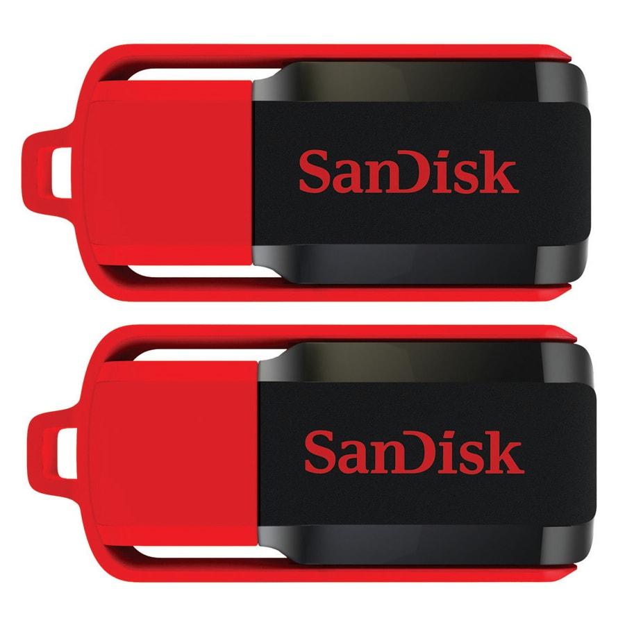 SanDisk 8GB Cruzer Switch USB Flash Drive (Pack of 2)