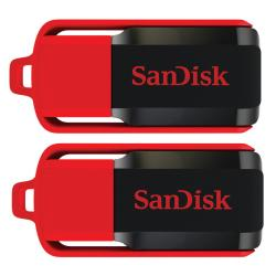 SanDisk 8GB Cruzer Switch USB Flash Drive (Pack of 2)