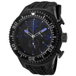 Swiss Legend Men's 'Neptune' Black Dial Black Rubber Chronograph Watch