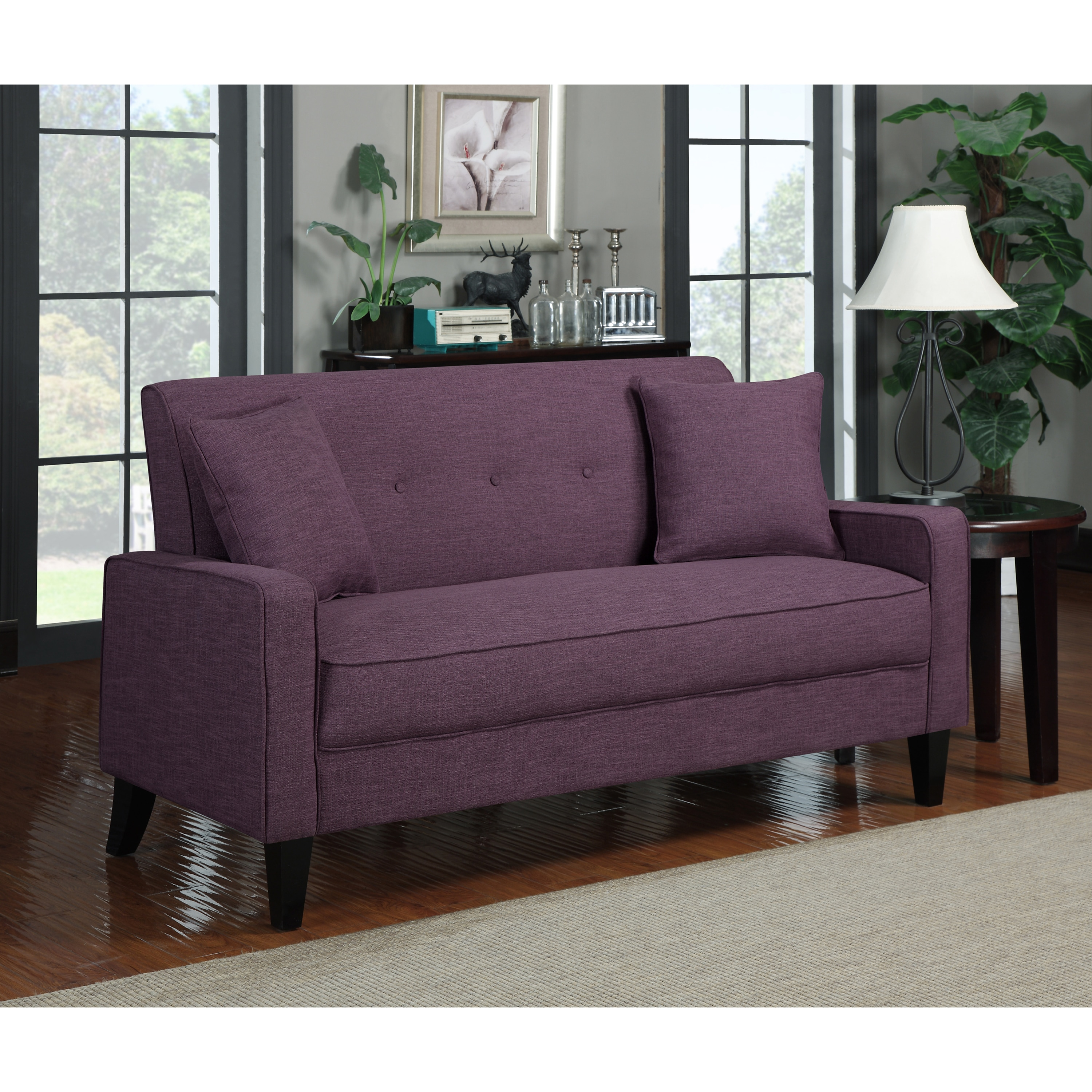 Portfolio Ellie Amethyst Purple Linen Sofa at Sears.com