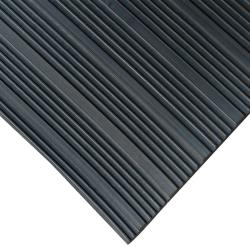 Rubber-Cal Composite Rib Corrugated Rubber Anti-Slip Floor Mat (4' x 6' x 3mm)