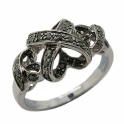 D'sire 10k White Gold 1/5ct TDW Black Diamond Fashion Ring