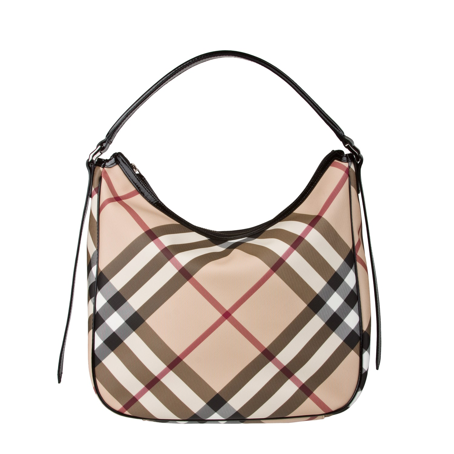 Burberry Medium Nova Check Hobo Bag