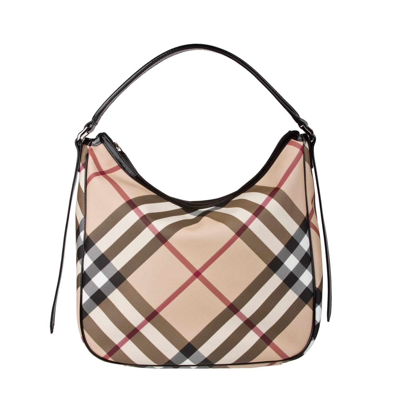 Burberry Medium Nova Check Hobo Bag