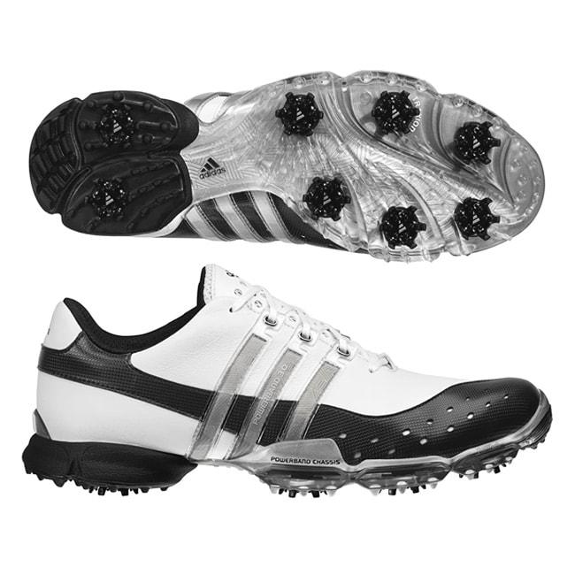 Adidas Men's Powerband 3.0 White/ Black/ Silver Golf Shoes