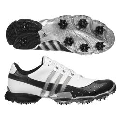 Adidas Men's Powerband 3.0 White/ Black/ Silver Golf Shoes