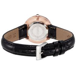 August Steiner Women's Czech Stone Accented Quartz Strap Watch