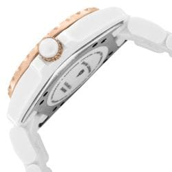 Swiss Legend Women's 'Karamica' White High-Tech Ceramic Diamond Watch