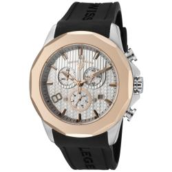 Swiss Legend Men's 'Monte Carlo' Black Silicone Chronograph Watch