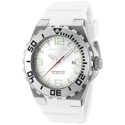 Swiss Legend Men's 'Expedition' White Dial White Silicon Watch