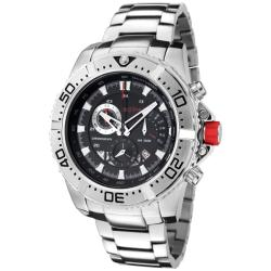 Red Line Men's 'Racer' Black Dial Stainless Steel Chronograph Watch