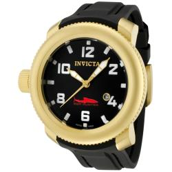 Invicta Men's 'Sea Hunter' Black Dial Black Polyurethane Watch