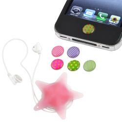 Home Button Sticker/ Star Headset/ Wrap for Apple iPod iPhone