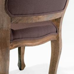 Christopher Knight Home Jules Weathered Hardwood Tufted Brown Fabric Arm Chair