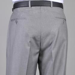 Men's Light Gray Flat Front Pants