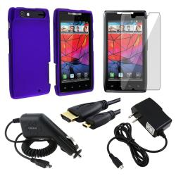 Case/ LCD Protector/ Charger/ HDMI Cable for Motorola Droid RAZR XT910
