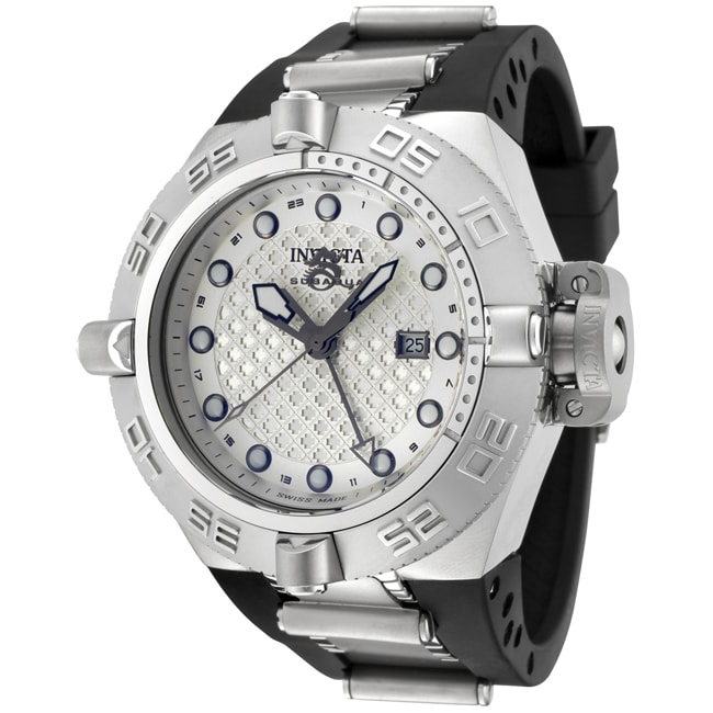 Invicta Men's 'Subaqua' Black Rubber & Stainless Steel GMT Watch