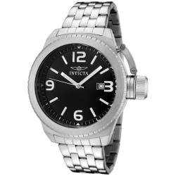 Invicta Men's 'Corduba' Black Dial Stainless Steel Watch
