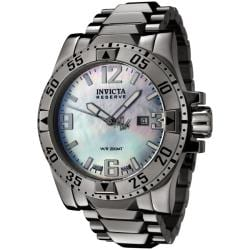 Invicta Men's 'Reserve' Blue MOP Dial Stainless Steel Watch
