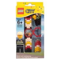 LEGO Children's 'City Fireman' Minifigure Watch
