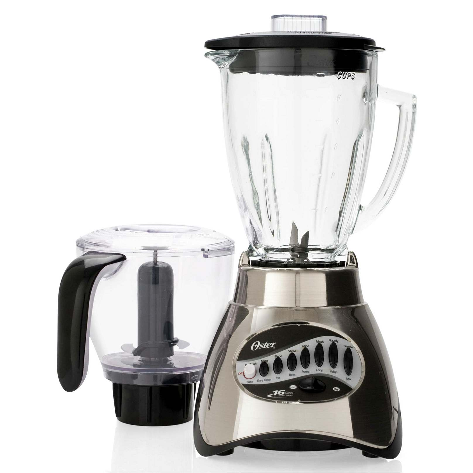 oster 6878 16 speed glass jar blender w food processor. Black Bedroom Furniture Sets. Home Design Ideas