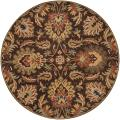Hand-tufted Natore Chocolate Brown Floral Wool Rug (9'9 Round)