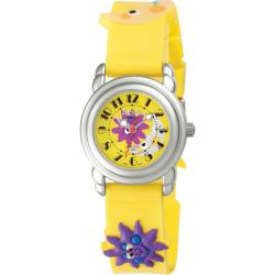 Activa Juniors Yellow Cartoon Design Rubber Watch