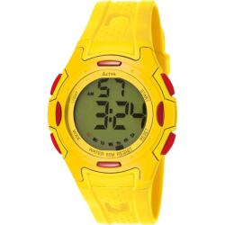 Activa Women's Green Digital Dial Yellow Rubber Watch