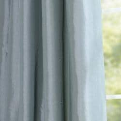 Ruched Header Sea Green Faux Silk Taffeta 108-inch Curtain Panel