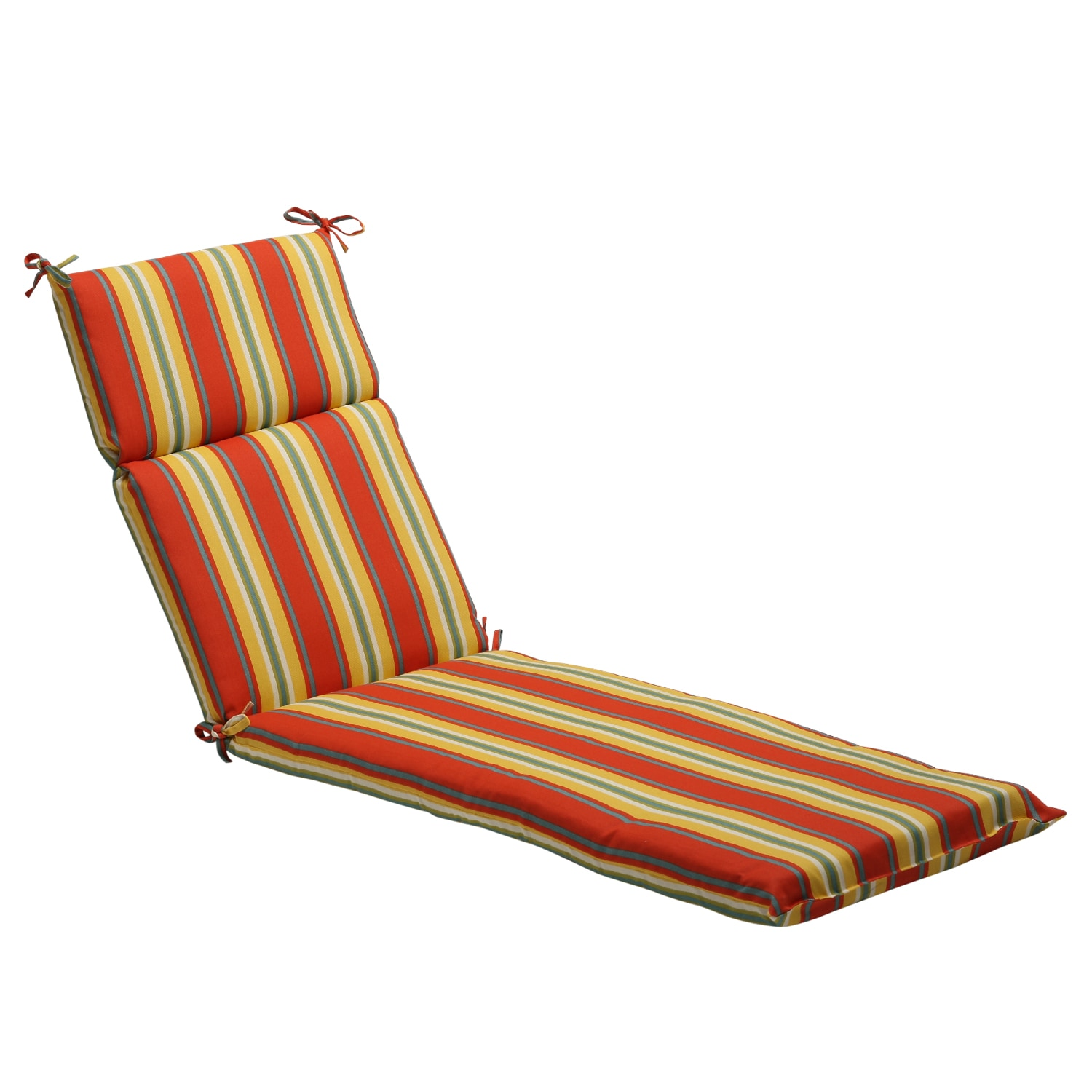 Pillow Perfect Orange Yellow Striped Outdoor Chaise